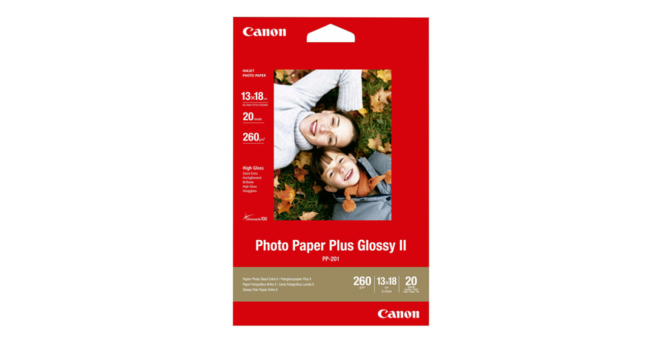 Canon Papier fotograficzny PP-201 13x18, 260g 20szt. Photo Paper Plus Glossy II
