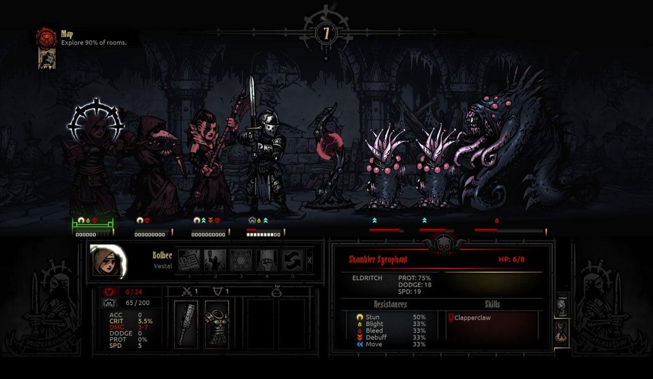 Najważniejsze cechy gry Darkest Dungeon