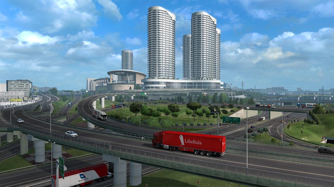 Dodatek Droga do Morza Czarnego do gry Euro Truck Simulator 2