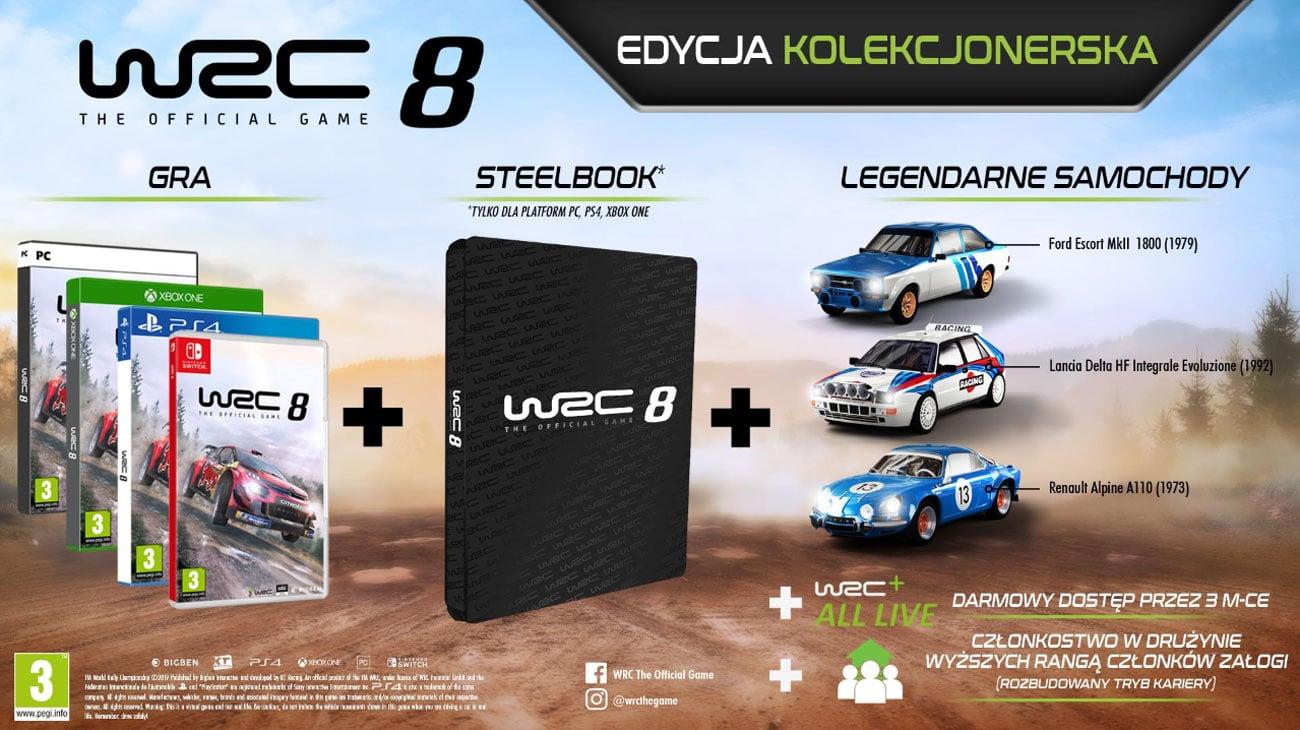 Gra Xbox One WRC 8 Edycja Kolekcjonerska