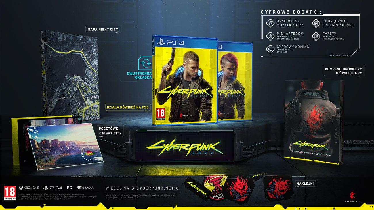 Cyberpunk 2077 - Zawartość edycji standardowej