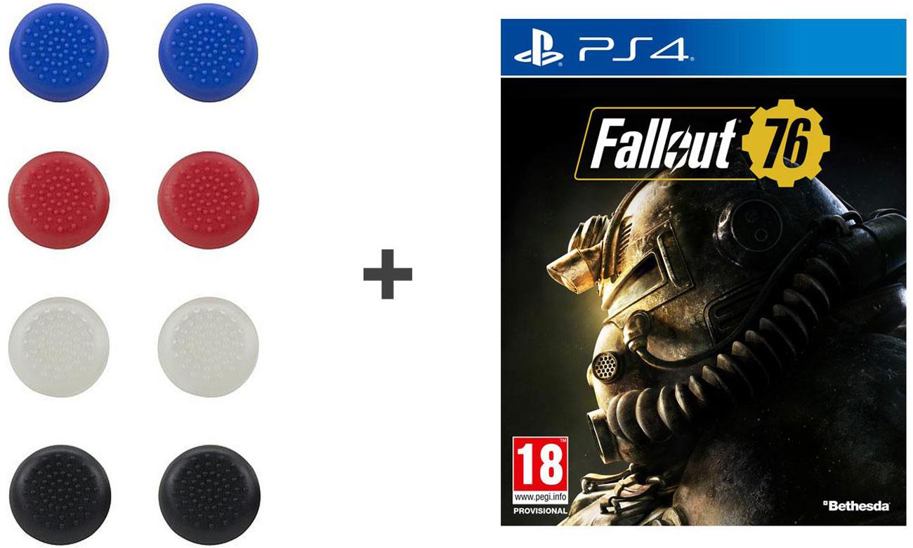 Zestaw nakładki na gałki analogowe + Fallout 76