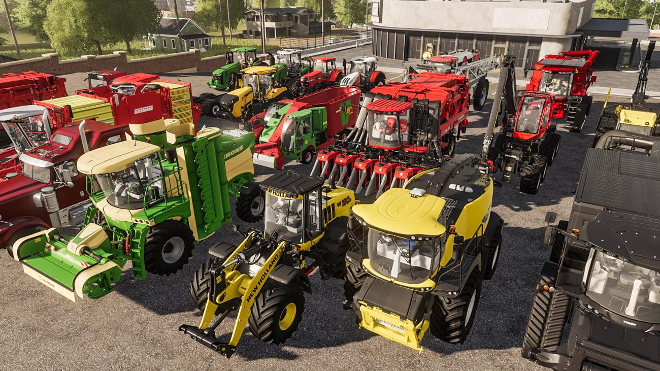 Mnóstwo pojazdów i maszyn do wyboru