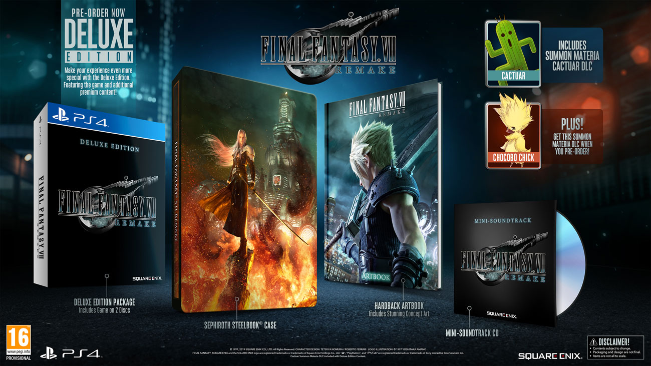Gra na PS4 Final Fantasy VII Remake Deluxe Edition