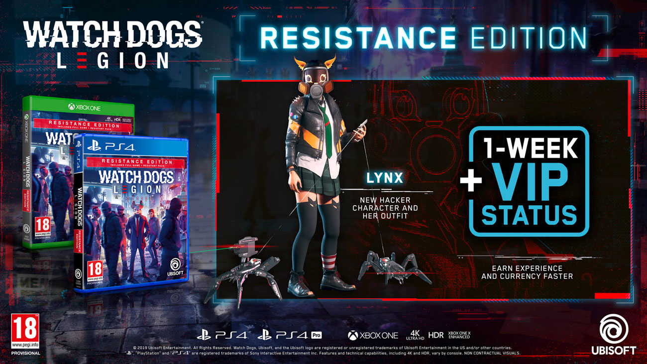 Gra PS4 Watch Dogs Legion Resistance Edition