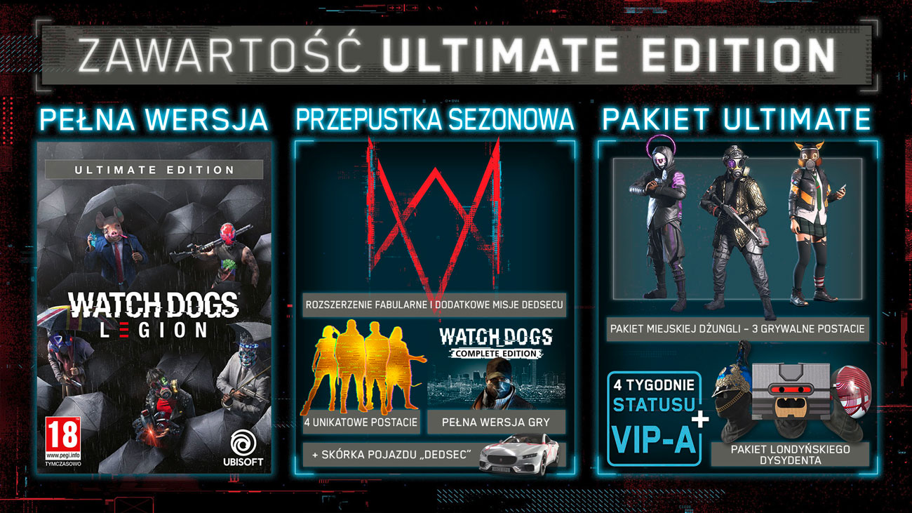 Gra PS4 Watch Dogs: Legion Ultimate Edition