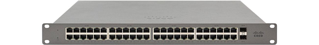 Switch Cisco Meraki Go GS110-48-HW-EU (48x1000Mbit, 2xSFP) GS110-48-HW-EU