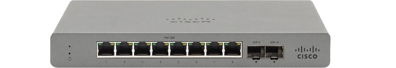Switch Cisco Meraki Go GS110-8P-HW-EU PoE (8x1000Mbit, 2xSFP) GS110-8P-HW-EU