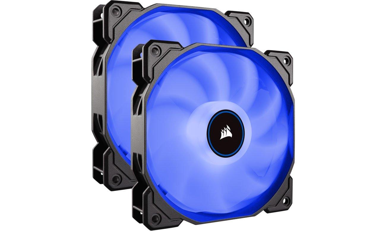 Wentylator do komputera Corsair AF140 LED 2018 Blue Dual Pack