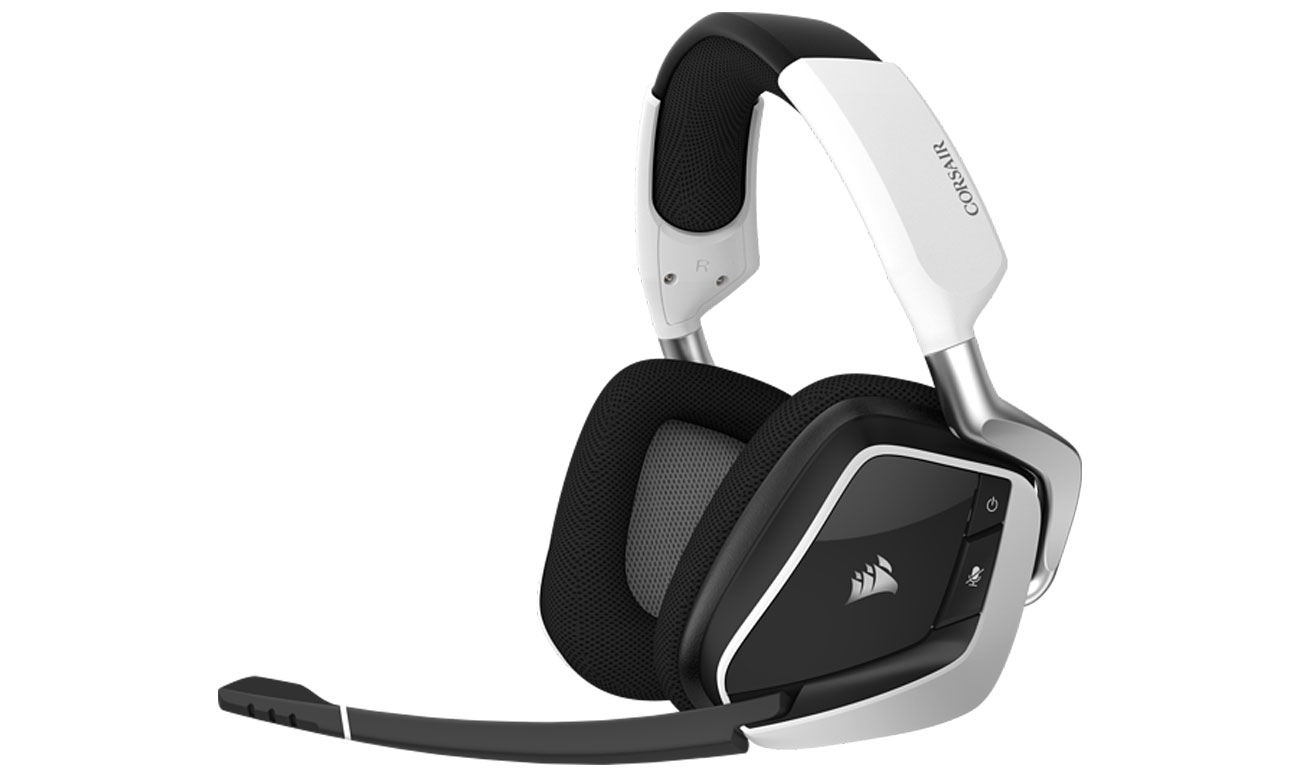 Der kabellose Kopfhörer mit 50 mm Neodym Lautsprechertreibern und Ohrpolstern aus Mikrofasergewebe und Memory Schaumstoff CORSAIR Void ELITE Wireless White