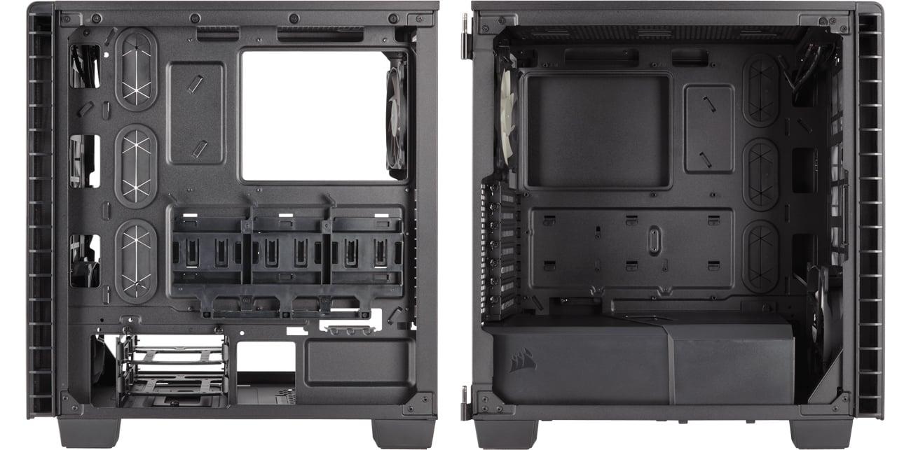 Corsair Carbide Clear 400C Case czarna wnętrze