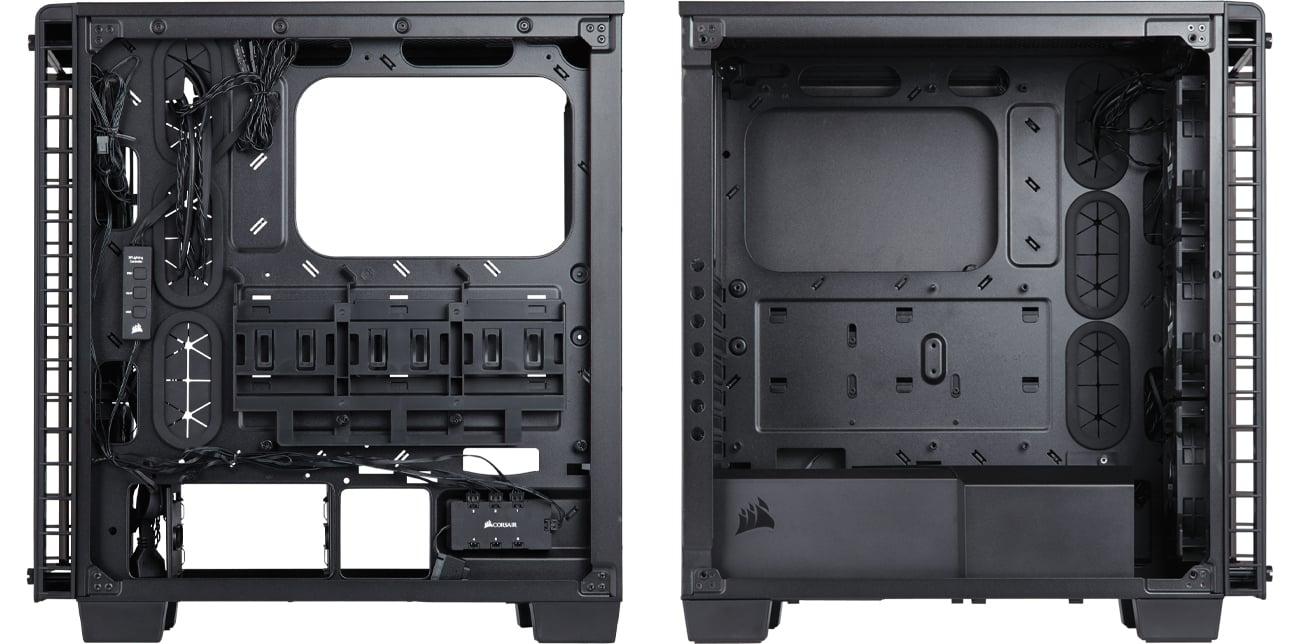 Corsair Crystal Series 460X RGB wnętrze