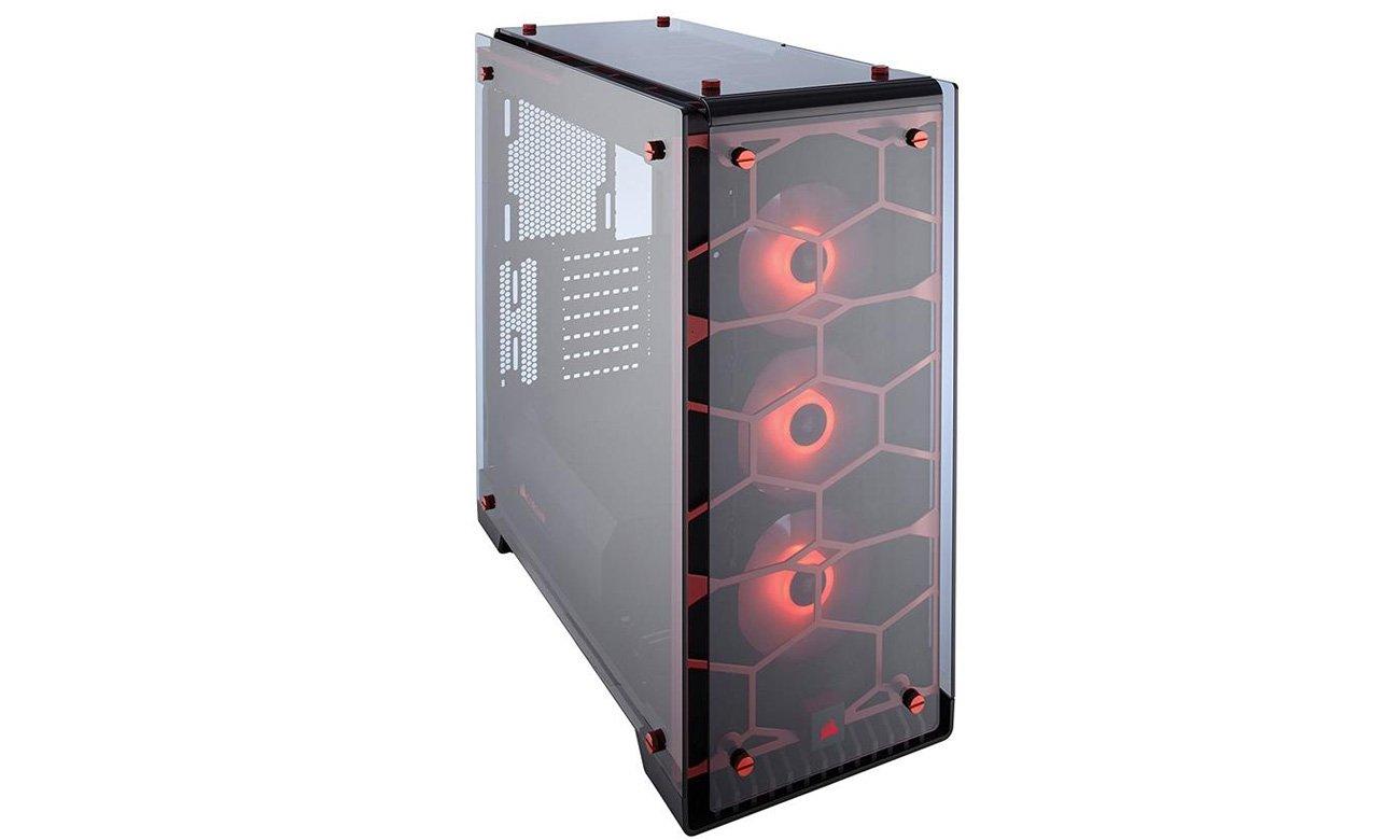 Corsair Crystal 570X RGB czerwona