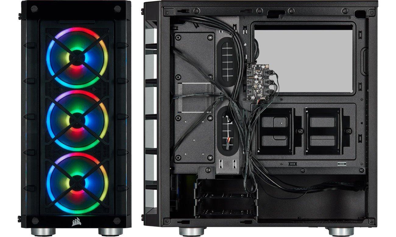 Corsair iCUE 465X RGB - Wnętrze
