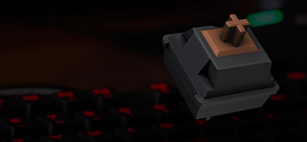 Corsair STRAFE przełączniki Cherry MX Brown pozłacane styki