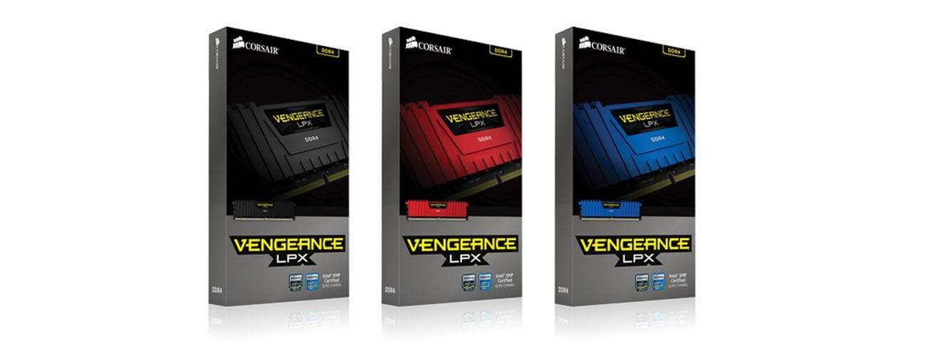 Pamięć DDR4 Corsair Vengeance LPX w wielu kolorach