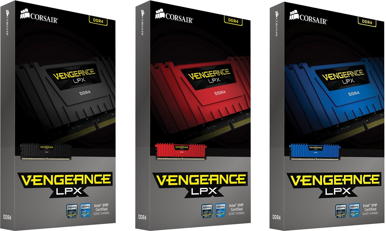 Pamięć DDR4 Corsair 8GB 2400MHz Vengeance LPX Red CL14 2x4096