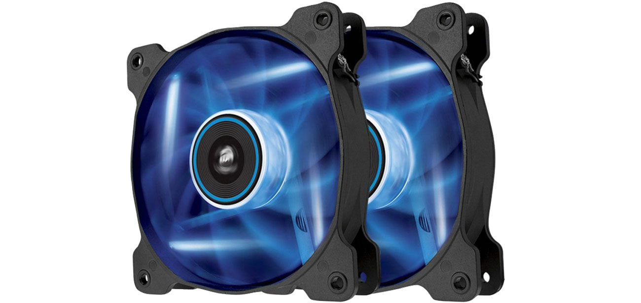 Corsair AF120 LED Blue Quiet Edition Twin Pack CO-9050016-BLED