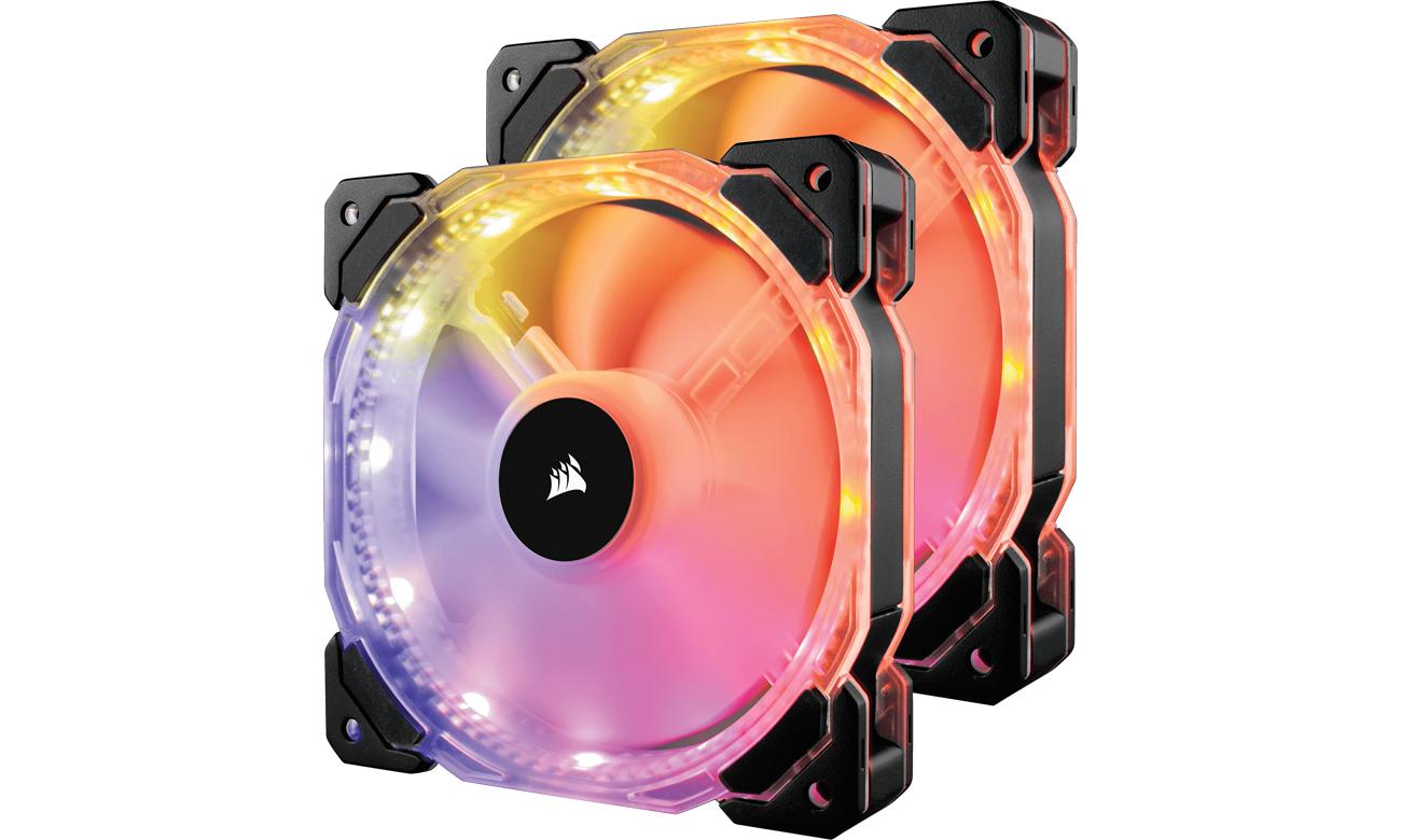 Corsair HD140 RGB 2x140mm podświetlenie LED