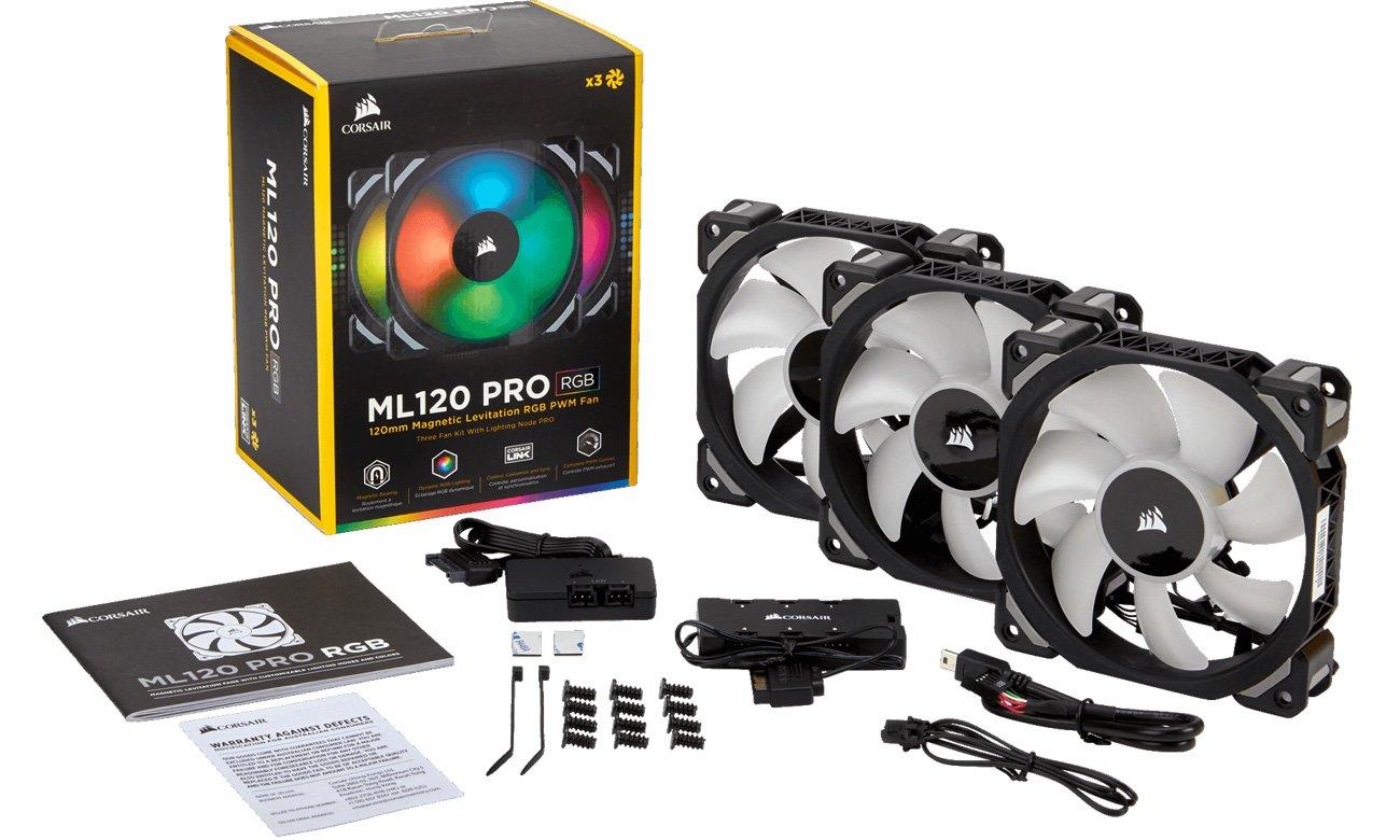 Zestaw Corsair ML Pro RGB 120 Three Fan Kit
