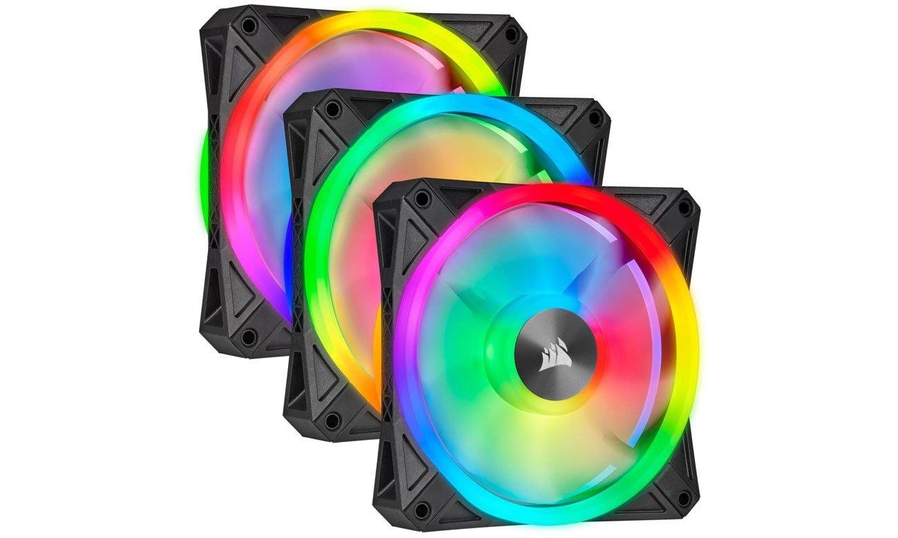Wentylator do komputera Corsair iCUE QL120 RGB PWM 120 mm 3pack + Lighting Node CO-9050098-WW