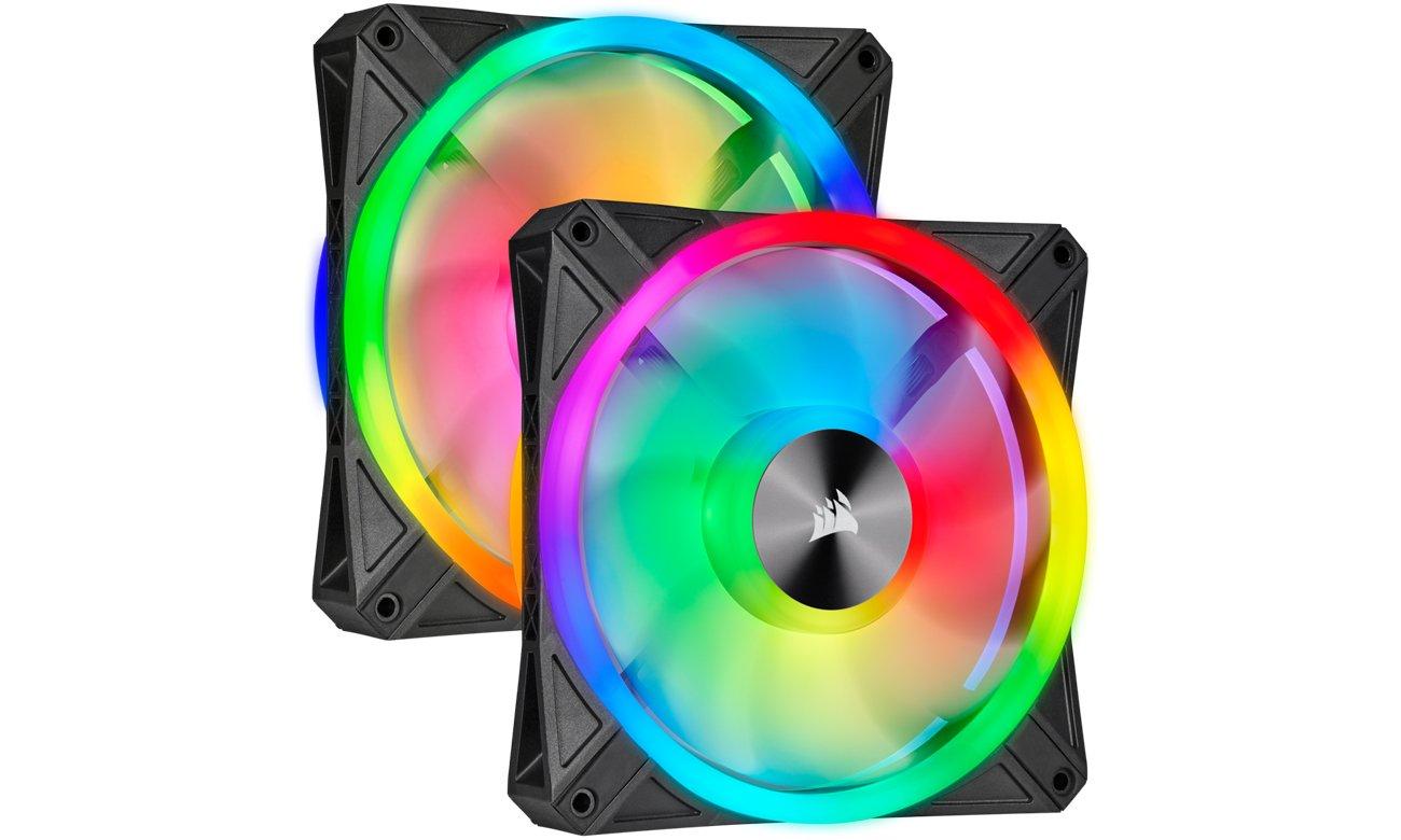 Wentylator do komputera Corsair iCUE QL140 RGB PWM 140 mm 2pack + Lighting Node CO-9050100-WW