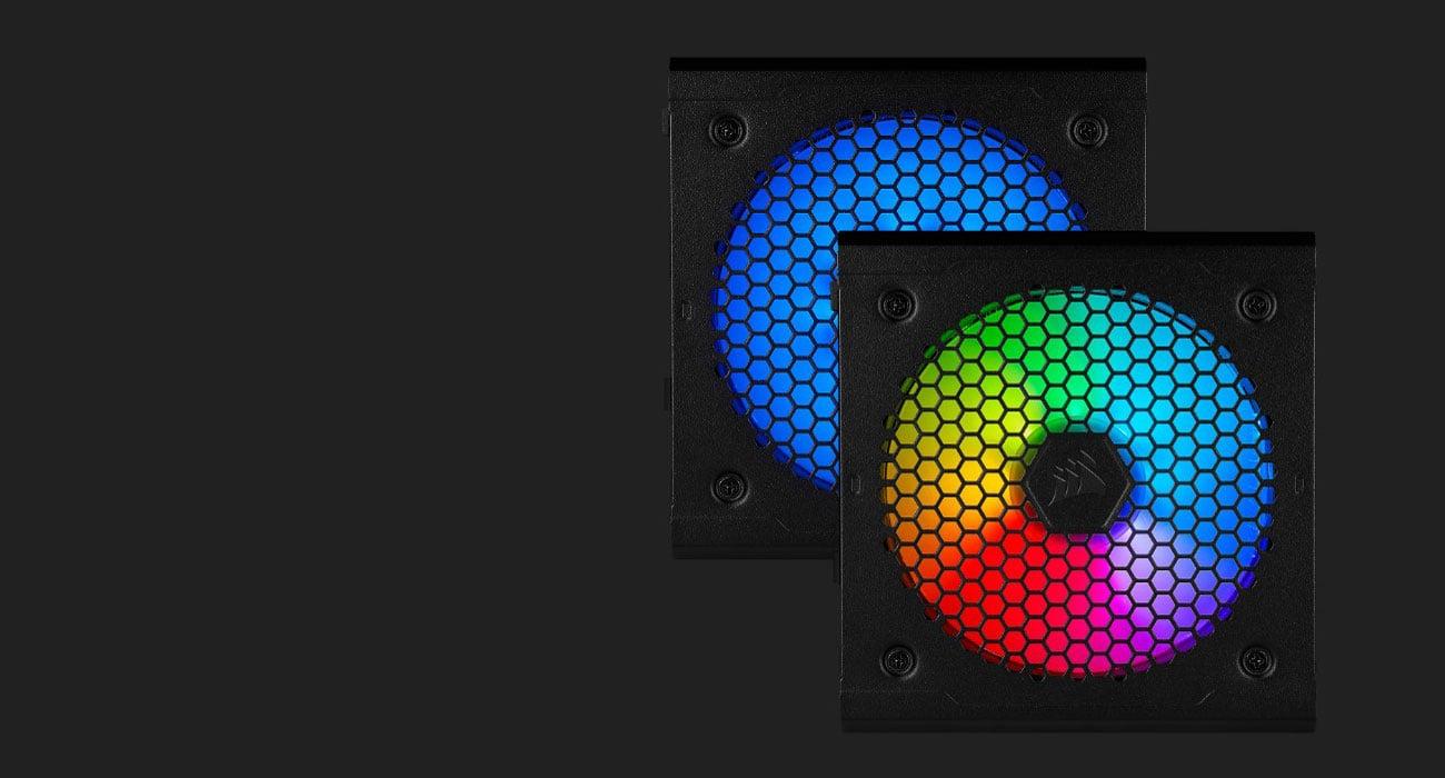 Corsair CX750F RGB 750W - Podświetlenie