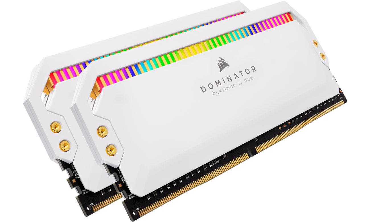 Pamięć RAM DDR4 Corsair 16GB (2x8GB) 3200MHz CL16 Dominator White RGB CMT16GX4M2C3200C16W