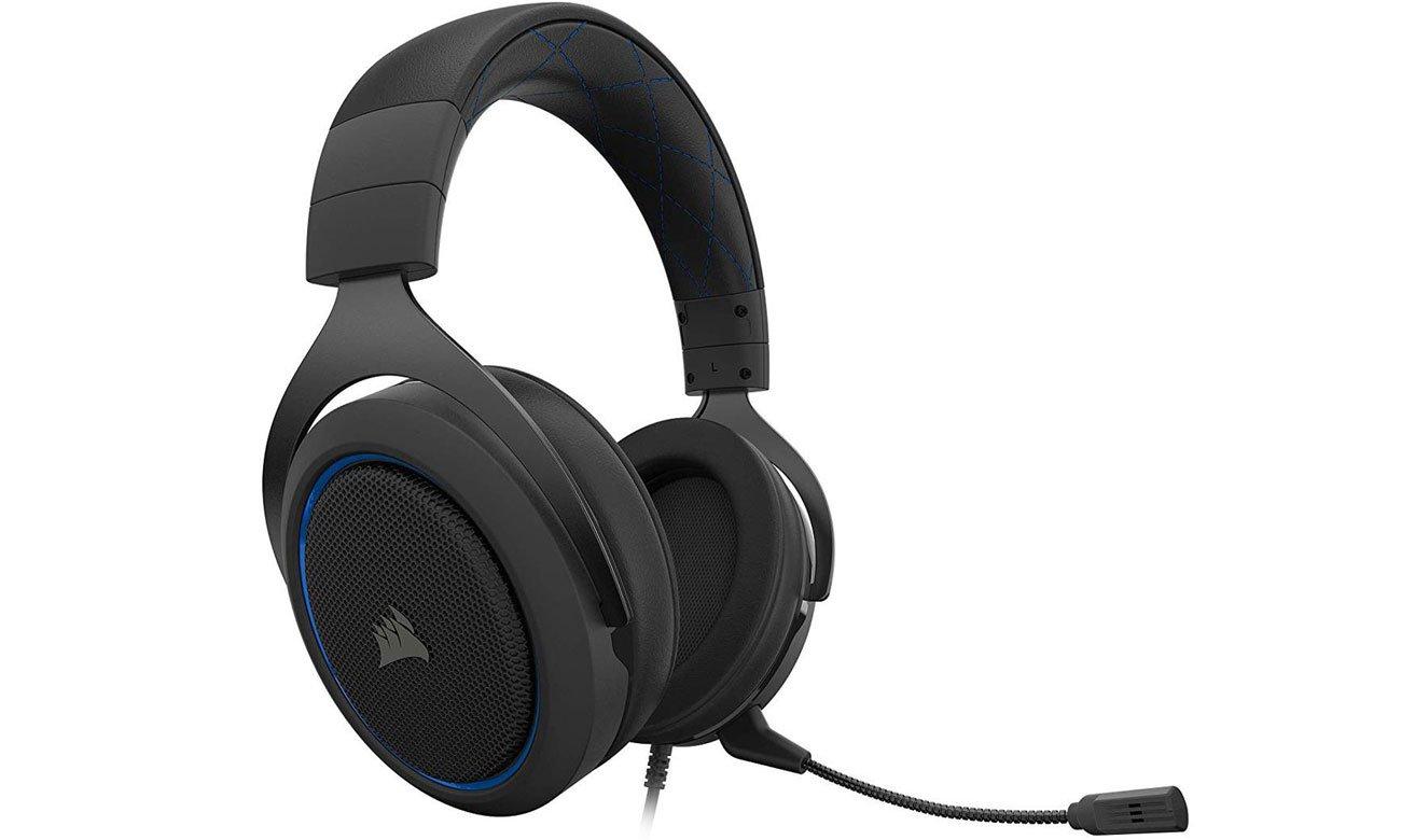 Zestaw słuchawkowy Corsair HS50 Pro czarno-niebieski