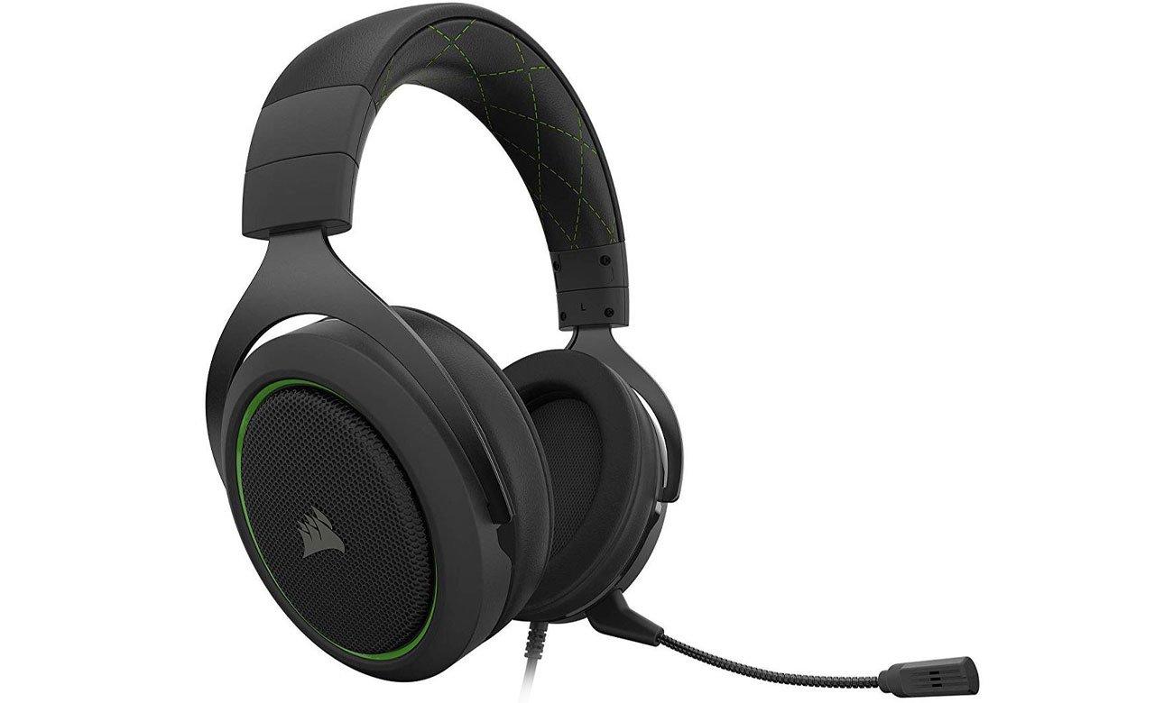 Zestaw słuchawkowy Corsair HS50 Pro czarno-zielony