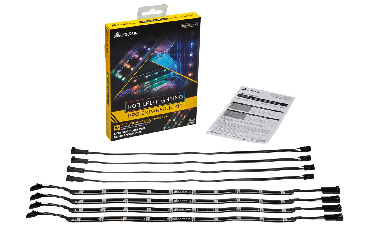 Corsair Lighting RGB LED PRO Expansion Kit taśmy magnetyczne