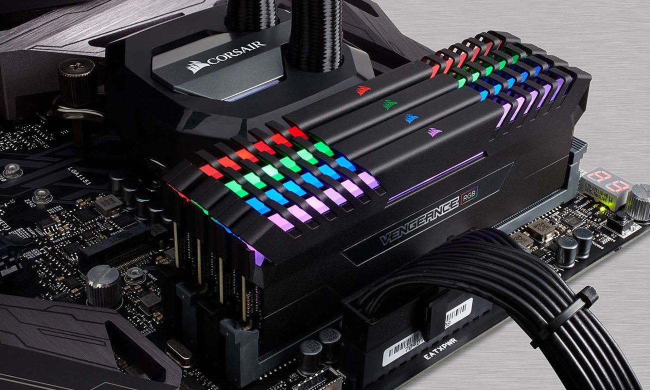Corsair Vengeance RGB LED podkręcanie XMP 2.0