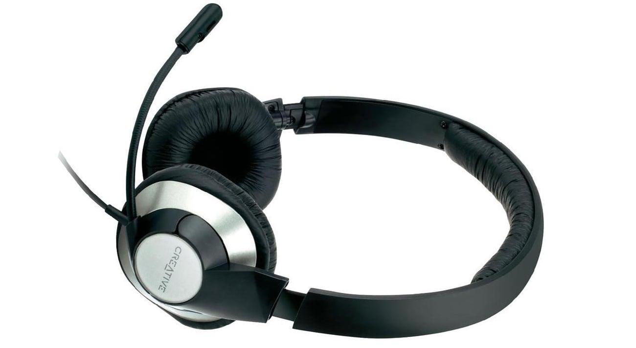 Creative HS-720 czarno-srebrne z mikrofonem