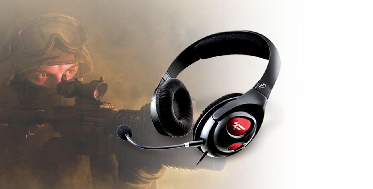 Głośniki Creative HS-800 Fatality Gaming czarne z mikrofonem