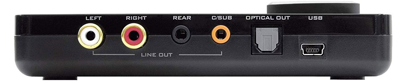 Creative SB X-FI Sorround Pro V3 Złącza