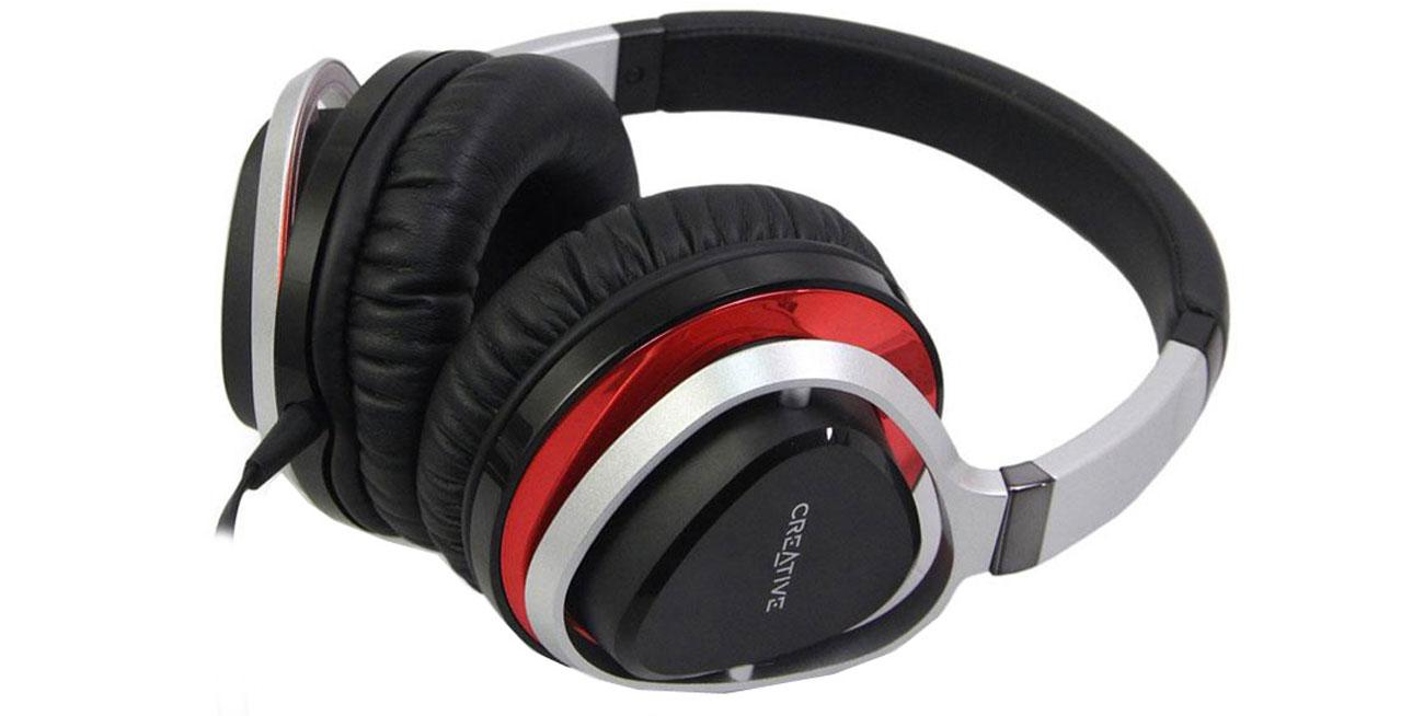 Creative Aurvana Live 2 czarno-czerwone z mikrofonem stylowy kształt komfort