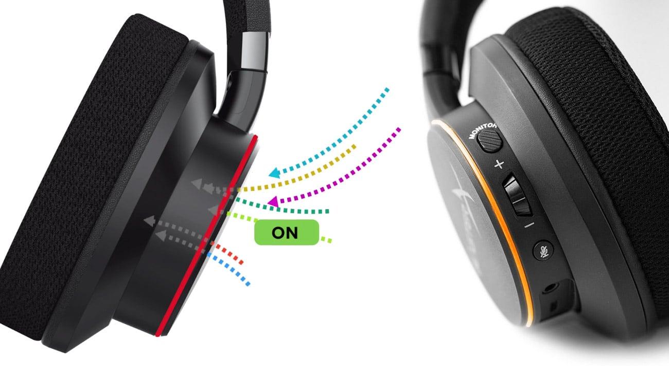 Creative Sound BlasterX H6 Funkcja monitorowania otoczenia, Kontrola na wyciągnięcie ręki