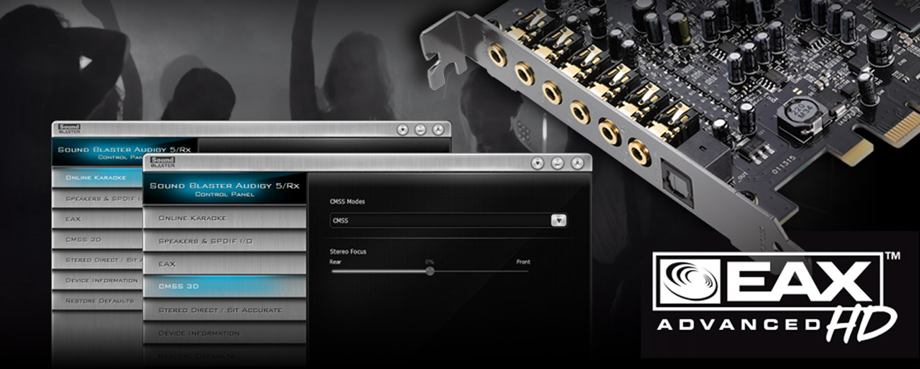 Karta muzyczna Creative Sound Blaster Audigy RX PCI-E jakość dźwieku