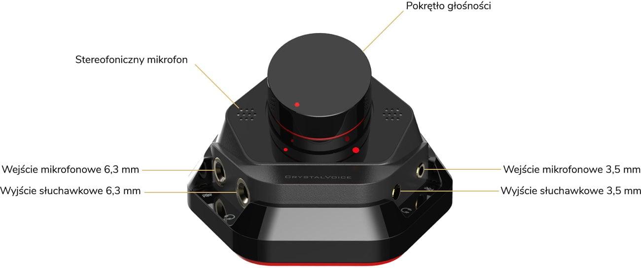 Creative Sound Blaster AE-7 - Moduł kontroli dźwięku