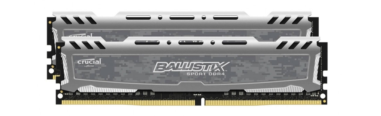 Pamięć RAM DDR4 Crucial 16GB 2400MHz Ballistix Sport LT Gray CL16 (2x8GB)