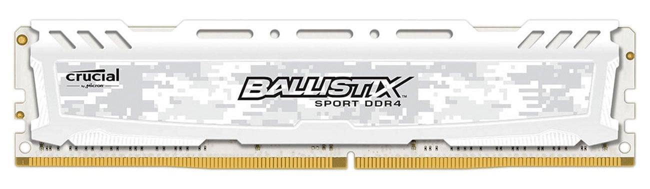 Pamięć RAM DDR4 Crucial 16GB 2666MHz Ballistix Sport LT White CL16 BLS16G4D26BFSC