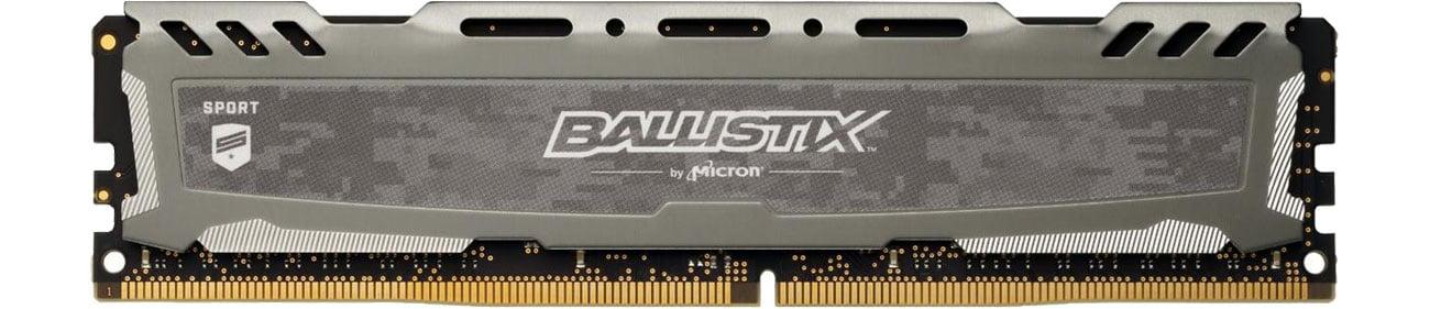 Pamięć RAM DDR4 Crucial 8GB 3000MHz Ballistix Sport LT Gray CL15 BLS8G4D30AESBK