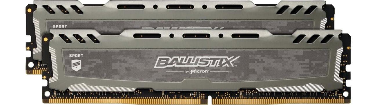 Pamięć RAM DDR4 Crucial 32GB 3200MHz Ballistix Sport LT Gray CL16 (2x16GB) BLS2K16G4D32AESB