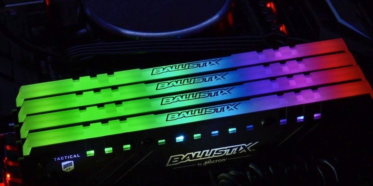 Crucial Ballistix Tactical Tracer RGB DDR4 Sterowalne diody LED RGB