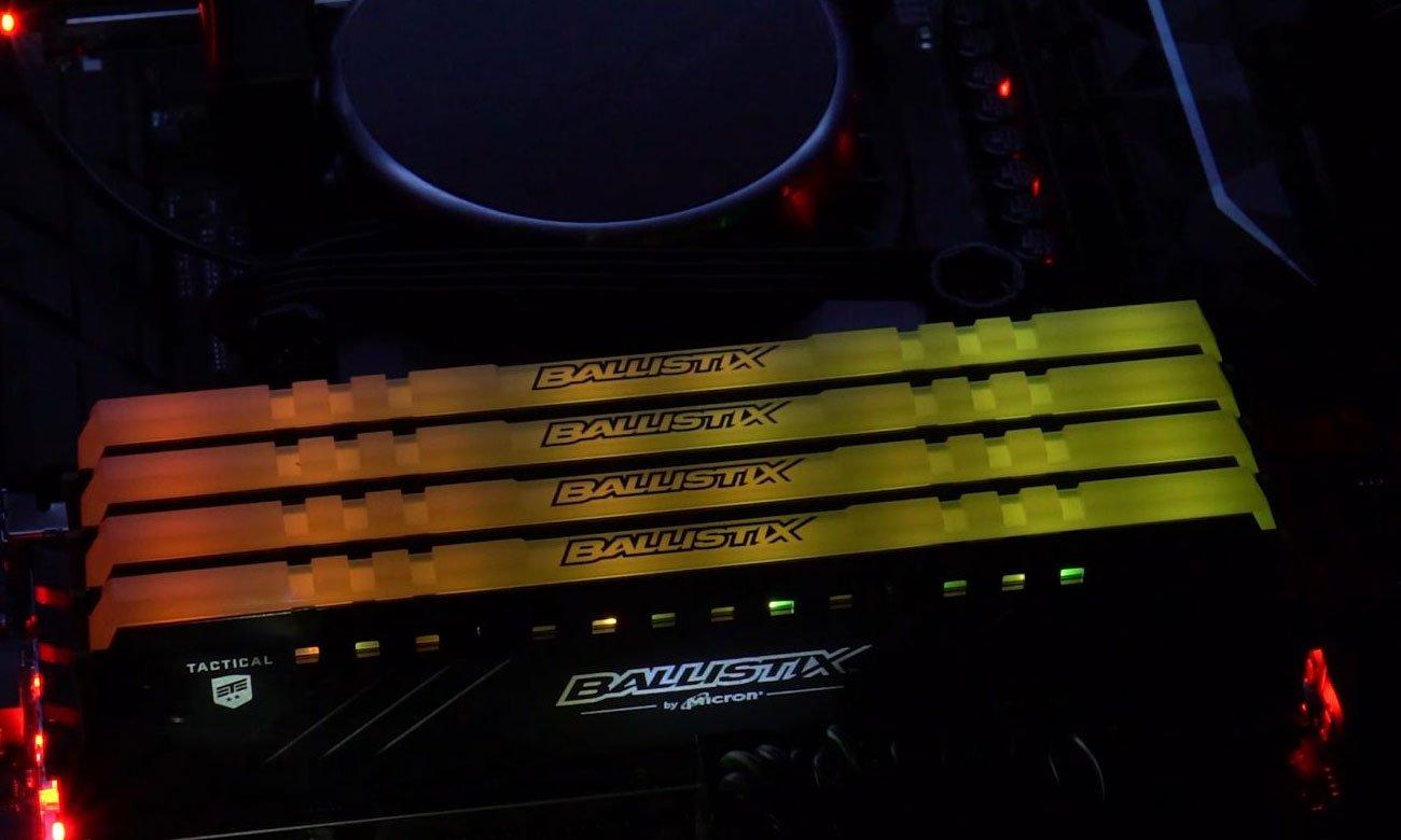 Crucial Ballistix Tactical Tracer RGB DDR4 Jakość i niezawodność Micron