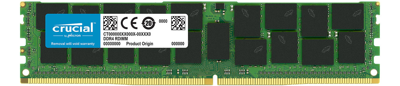 Pamięc RAM serwerowa Crucial 16GB 2666MHz RDIMM ECC CL19 1.2V CT16G4RFD4266