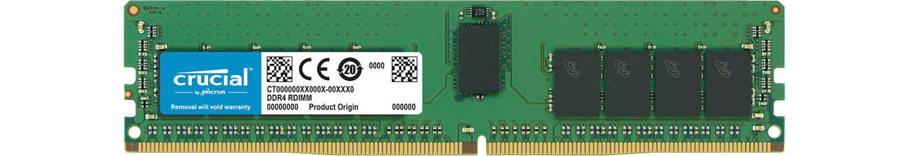 Pamięc RAM serwerowa Crucial 16GB 2400MHz RDIMM ECC CL17 1.2V CT16G4RFD824A