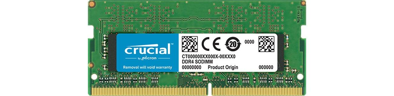 Pamięć RAM SODIMM DDR4 Crucial 16GB 2666MHz CL19 1.2V CT16G4SFD8266