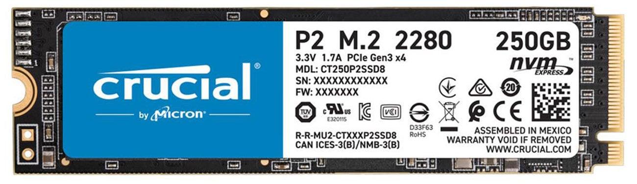 Dysk SSD Crucial P2 250GB M.2 NVMe
