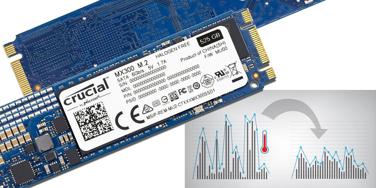 Dysk SSD Crucial 750GB 2,5'' MX300 - zabezpieczenie termiczne